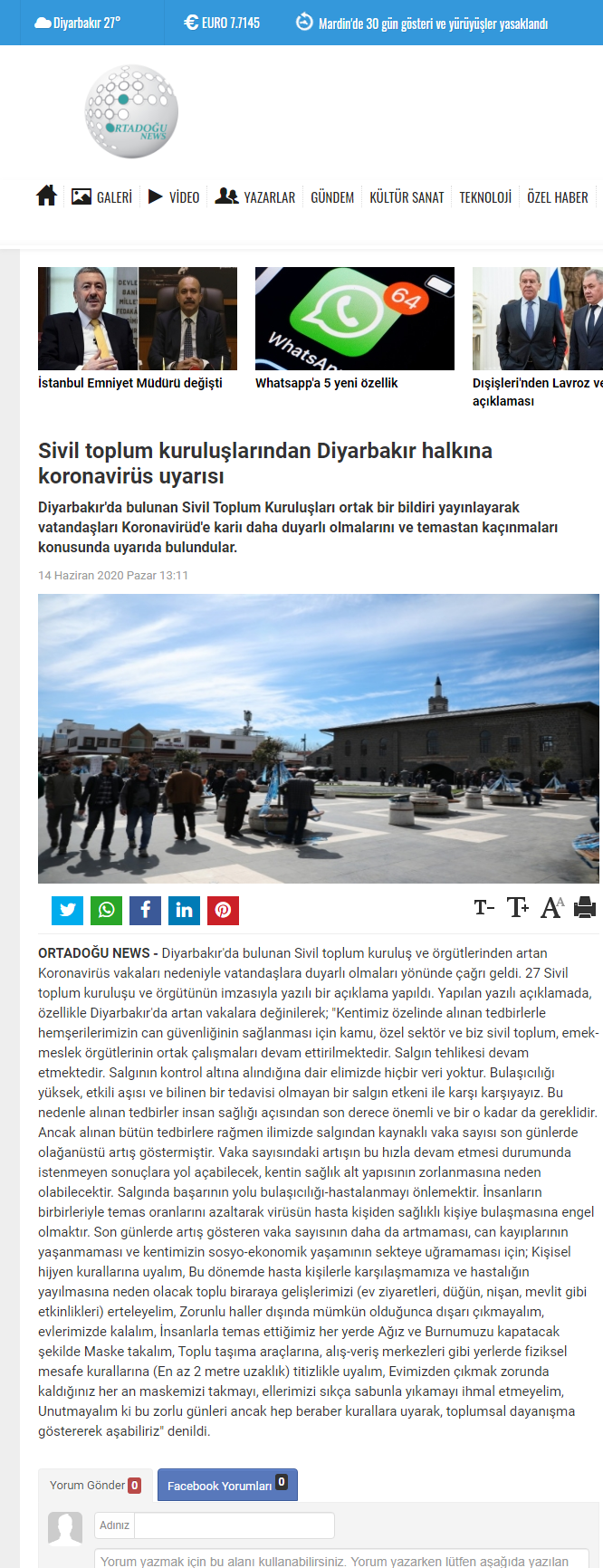 2020 06 15 SİVİL TOPLUM KURULUŞLARINDAN DİYARBAKIR HALKINA KORONAVİRÜS UYARISI (ortadogunews.com)