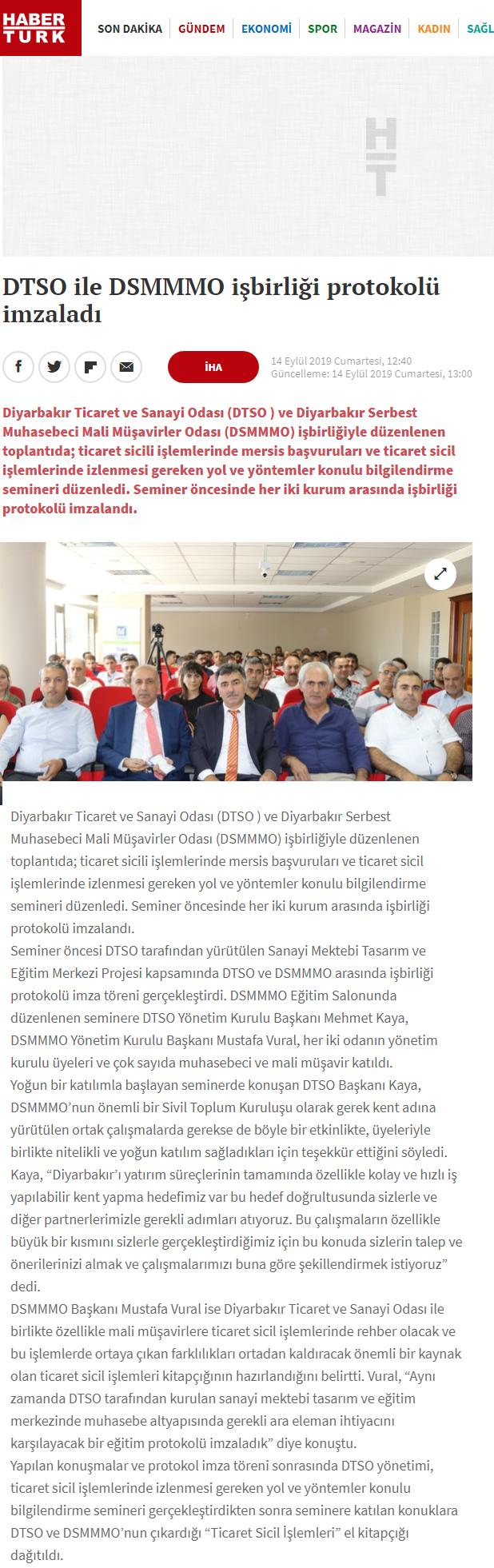 DTSO İLE DSMMMO İŞBİRLİĞİ PROTOKOLÜ İMZALADI (habertürk.com)